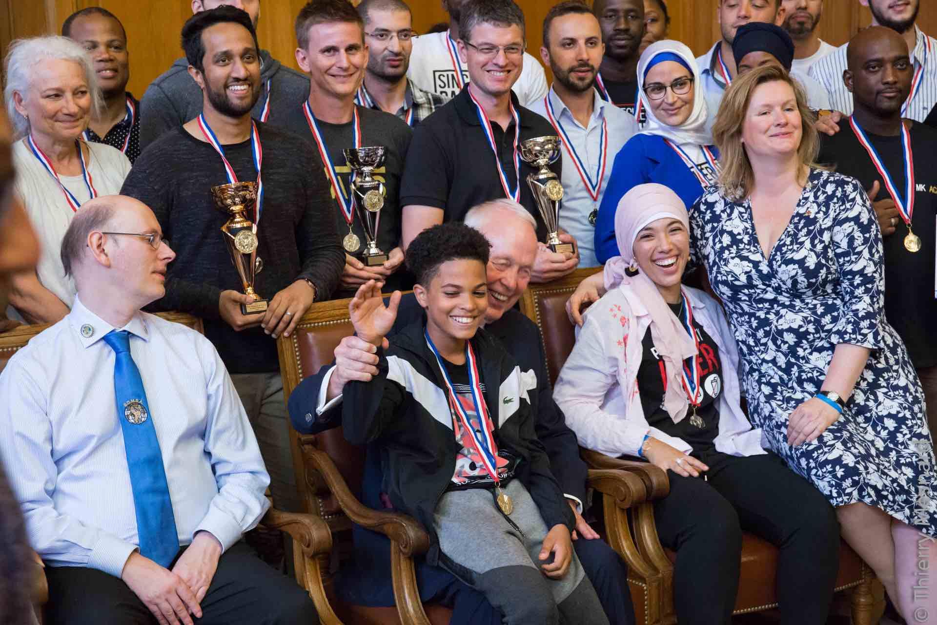 Les participants à ces 1er championnats de France de Mind Mapping