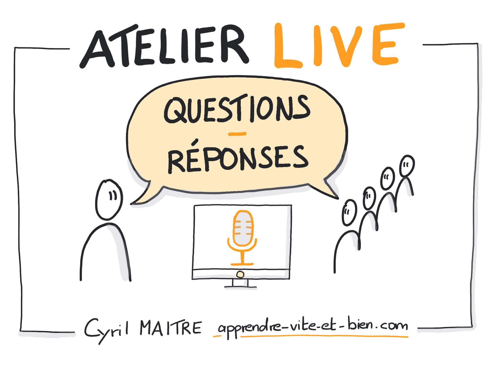 Visuel live questions re ponses