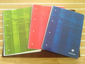 Les cahiers Clairefontaine à pages blanches, prédécoupées et peforées. Le cahier idéal pour le mind mapping.