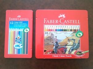 Mes crayons de couleur Fabercastell classiques et aquarellables