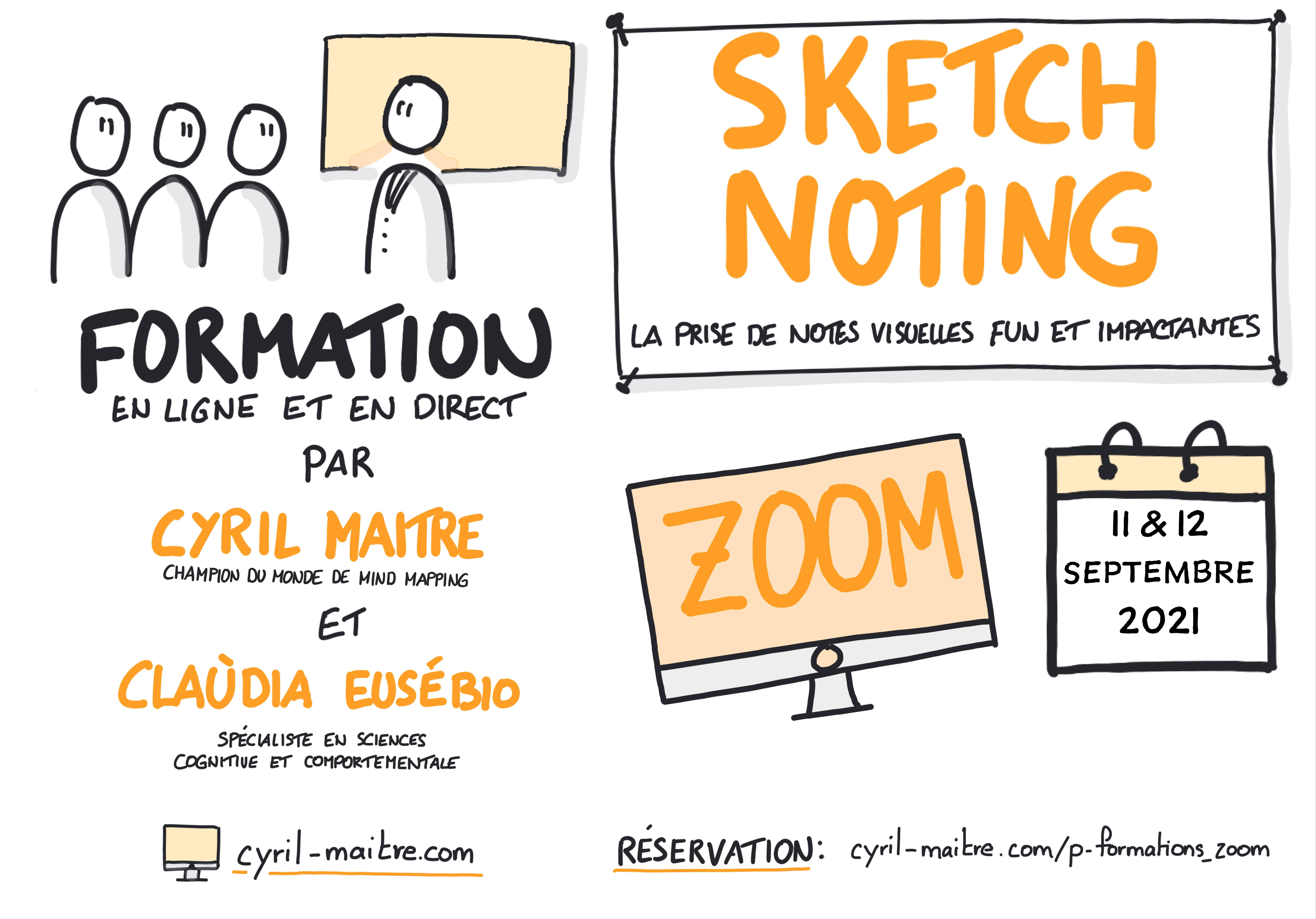 cyril maitre claudia eusebio formation sketchnoting