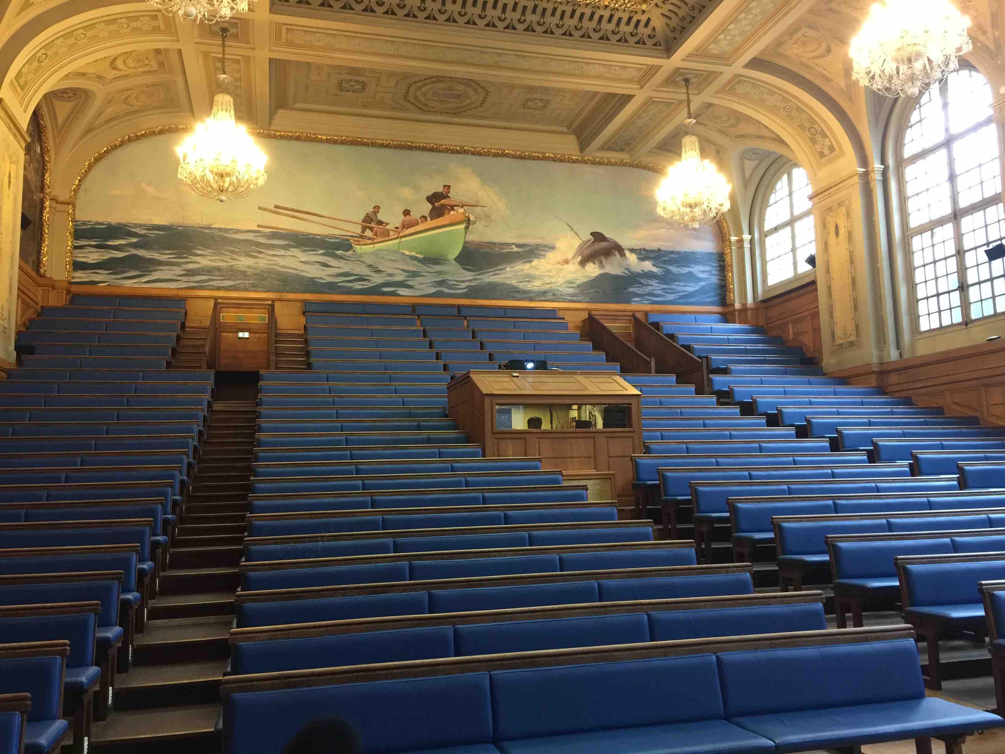 La grande salle de la Maison des Océans