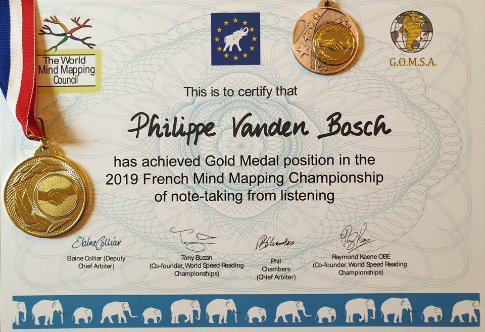 La médaille d'or de  Phil Vanden Bosch