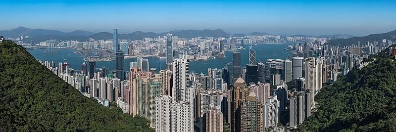 Vue de Hong Kong depuis le Victoria Peak