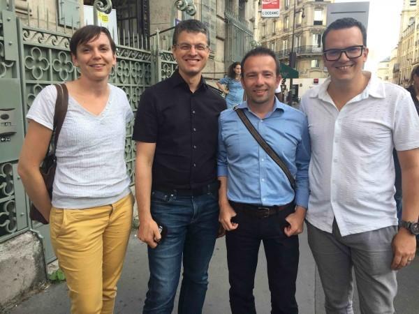 An Aêl Gombert, Cyril Maitre, Vincent Delourmel et Jean-Yves Ponce