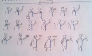 Exemples de personnages Bikablo.