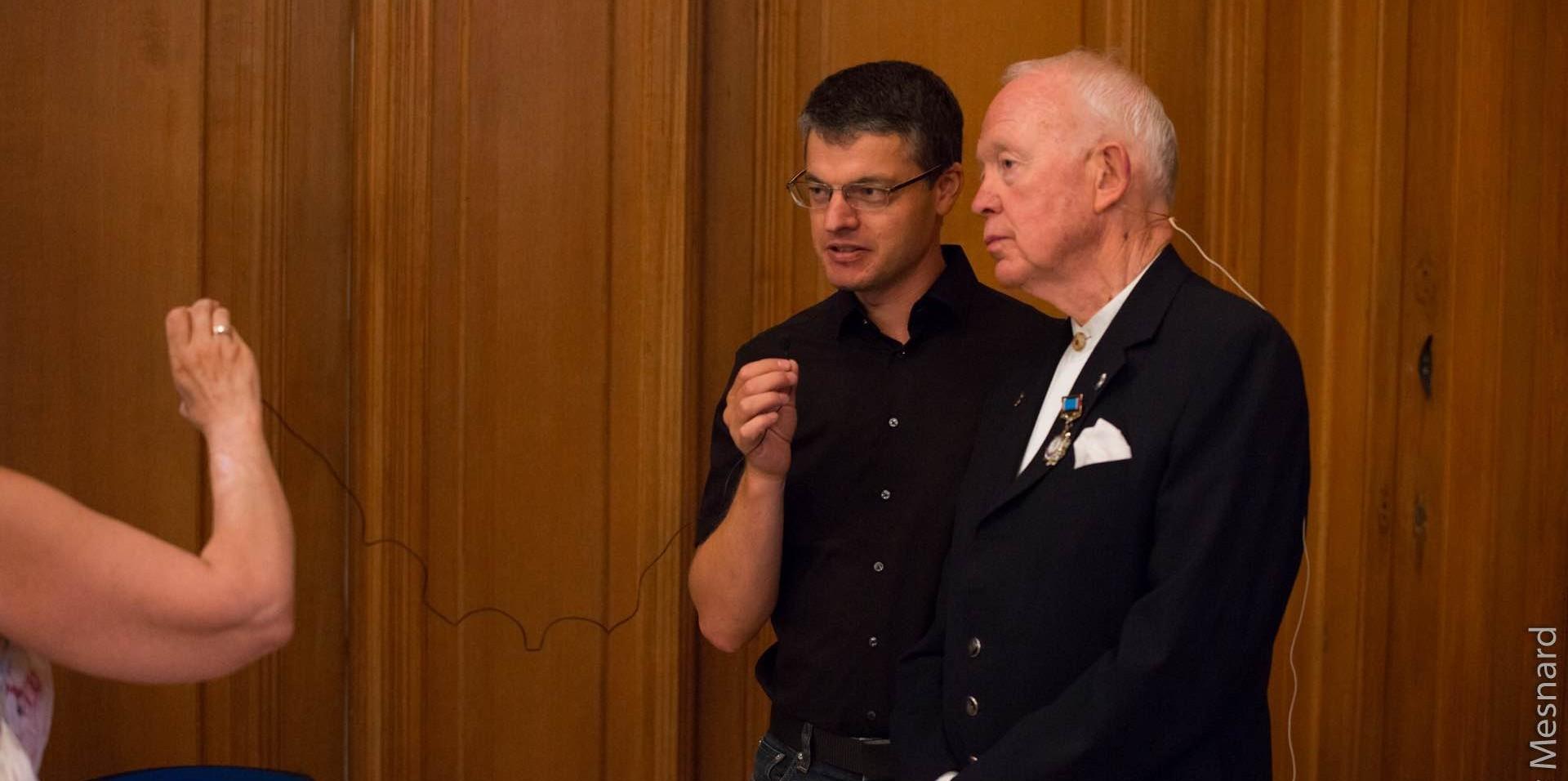 Interview conjointe avec Tony Buzan pour une journaliste