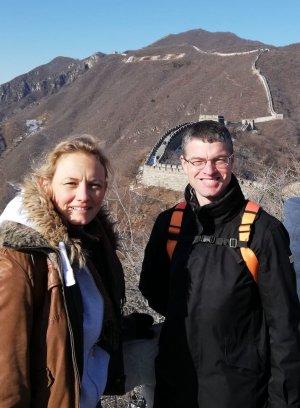 Visite de la muraille de Chine avec Delphine lors des Championnats du monde 2019 de mind mapping à Pékin