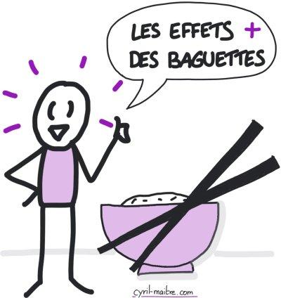 Les effets positifs des baguettes pour manger