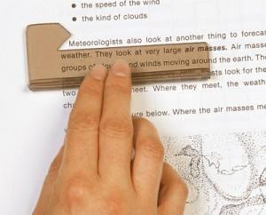 L'utilisation d'un guide visuel permet d'augmenter instantanément la vitesse de lecture et la compréhension.