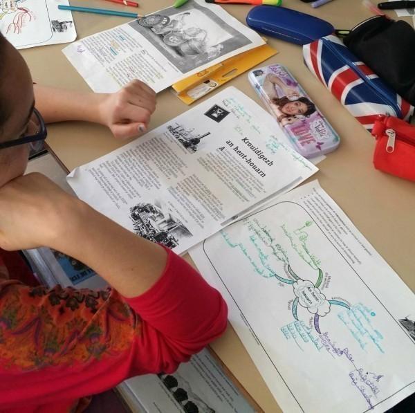 Dans un premier temps les élèves ont complété une carte préparée par leur professeur.