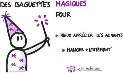 Des baguettes magiques pour manger